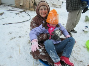 Sledding with Grammy
